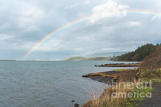 Rainbow over Netarts by Tim Moore