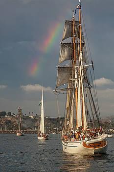Cliff Wassmann - Rainbow over tall ships