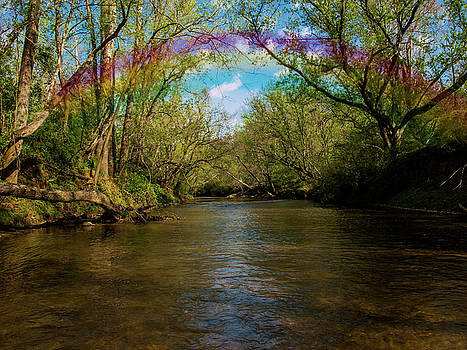Rainbow Over The Ararat River by Randy Sylvia