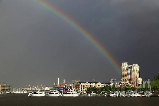 James Brunker - Rainbow over the Inner Harbor Baltimore