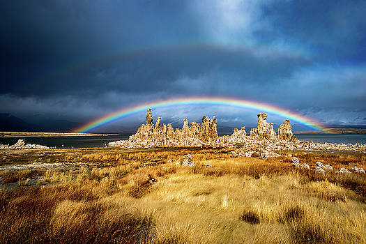 Mono Lake Tufa Towers Rainbow by Daniel Danzig