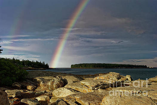 Rainbow, Owls Head, Maine by Kevin Shields