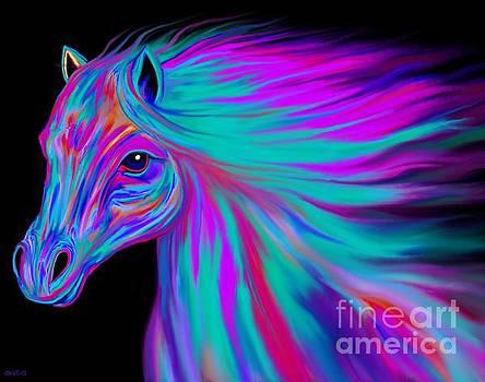 Nick Gustafson - Rainbow Painted Horse