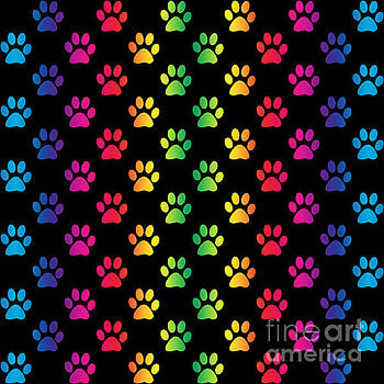 Rainbow Pawprints by Sari ONeal
