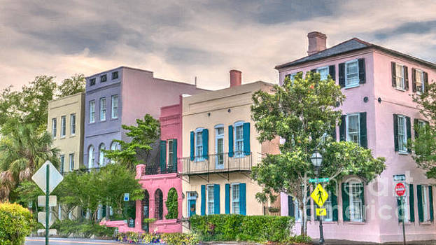 Dale Powell - Rainbow Row Charleston South Carolina