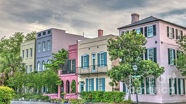 Dale Powell - Rainbow Row in Historic Downtown Charleston South Carolina