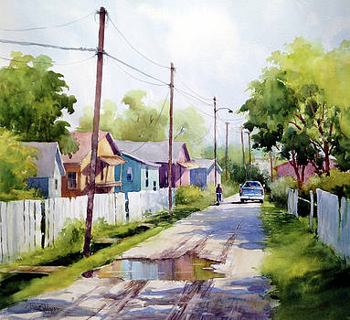 Rainbow Row by Tina Bohlman
