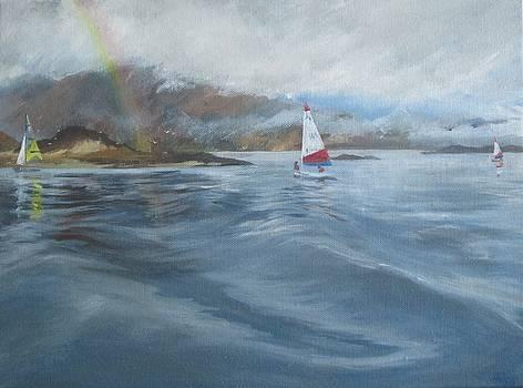 Rainbow sailing by Cindie Reiter