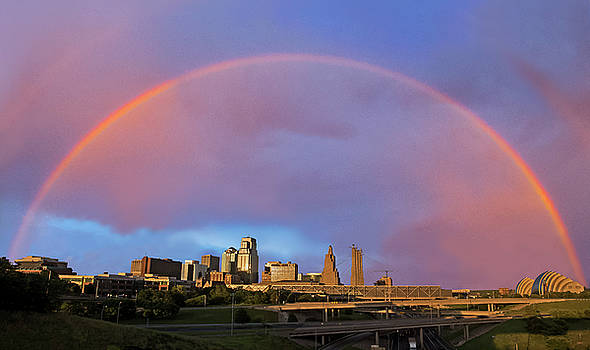 Rainbow skyline by Roy Inman