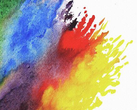 Rainbow Splash Of Watercolor by Irina Sztukowski