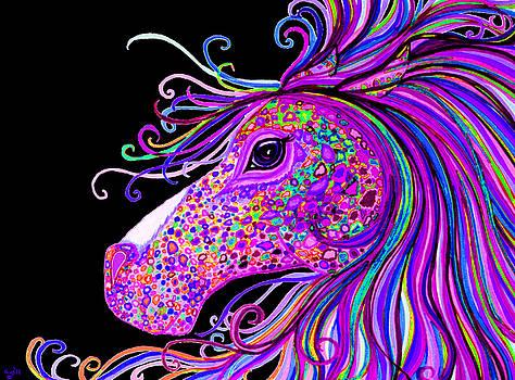 Nick Gustafson - Rainbow Spotted Horse Head 2