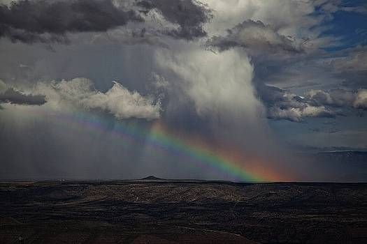 Rainbow Storm over the Verde Valley Arizona by Ron Chilston
