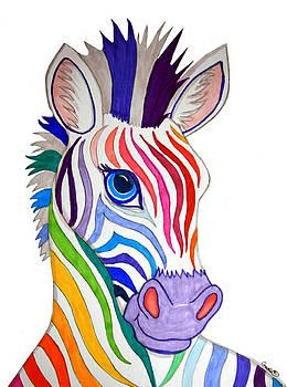Nick Gustafson - Rainbow Striped Zebra