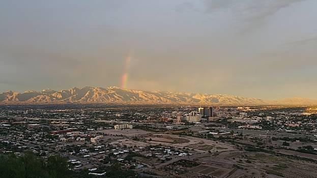 Rainbow Sunset, Tucson by James Scotti