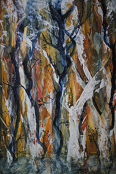 Rainbow Swamp Trees by Vallee Johnson