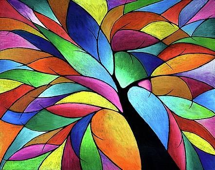 Rainbow Tree by Lisa Frances Judd