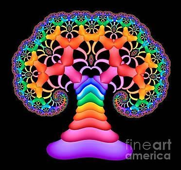 Rainbow Tree Of Life II by C Branch