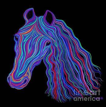 Rainbow Tribal Horse  by Nick Gustafson
