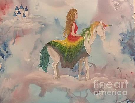 Rainbow unicorn by Heather James