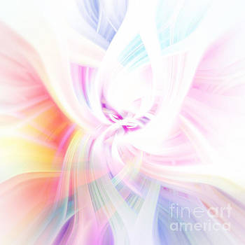Rainbow with Swirls Abstract by Phill Petrovic