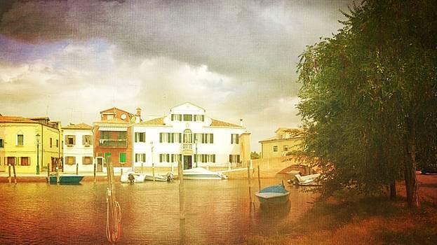 Raincloud over Malamocco by Anne Kotan