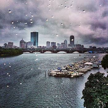 Raindrops On Boston.  #outmywindow by Sally Cooper