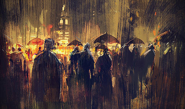 Raining by