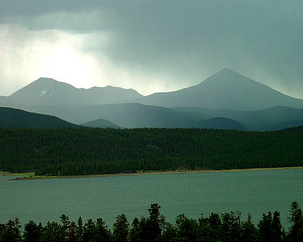 Rainy Afternoon at Lake Dillon Colorado by D Winston