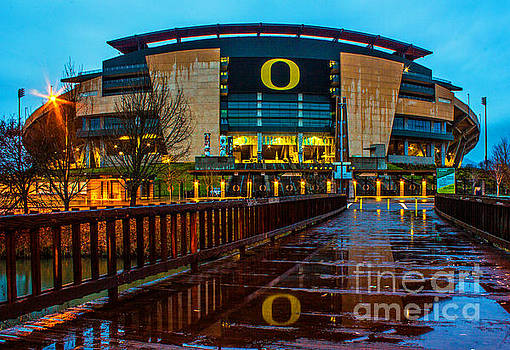 Rainy Autzen Stadium by Michael Cross