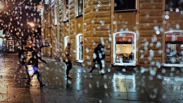 Rainy city. Window with drops. View of Saint Petersburg  by Tamara Sushko