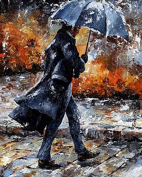 Rainy day/07 - Walking in the rain by Emerico Imre Toth