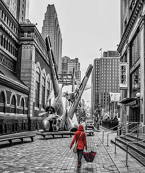 Rainy Day Crash - Lenfest Plaza Philadelphia by Bill Cannon