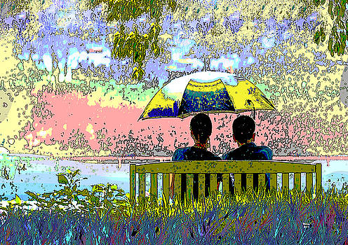 Rainy Day In The Park by Charles Shoup