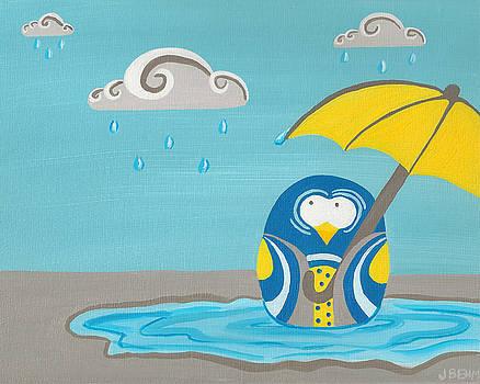 Rainy Day Owl by Julie Behm