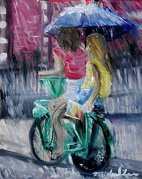 Rainy Day Ride by Michael Lee