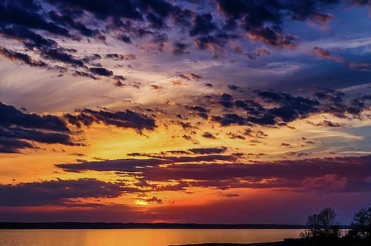 Rainy Day Sunset - 3 by Barry Jones