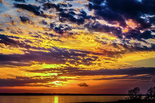 Rainy Day Sunset - 4 by Barry Jones