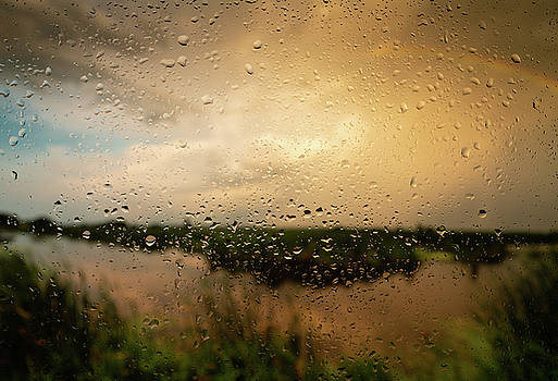 Rainy Dusk Over Horicon Marsh Wisconsin by Steve Gadomski