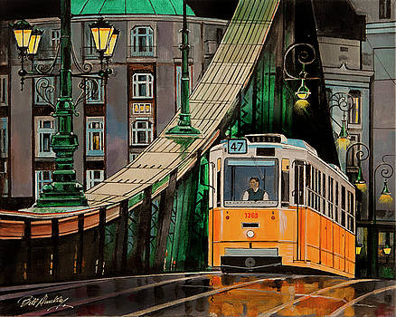Rainy Evening in Budapest by Bill Dunkley