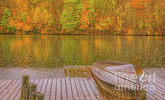 Rainy Fall Day at the Lake by Randy Steele