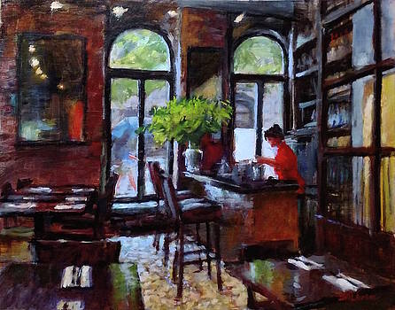 Rainy Morning in the Restaurant by Peter Salwen