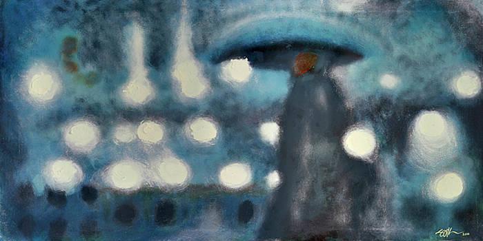 Rainy Night in Paris by Steve Park