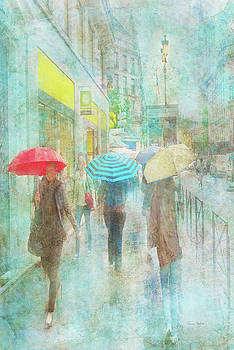 Rainy in Paris 5 by Ramona Murdock