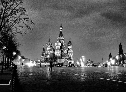 Rainy Red Square at Dusk by Steve Rudolph