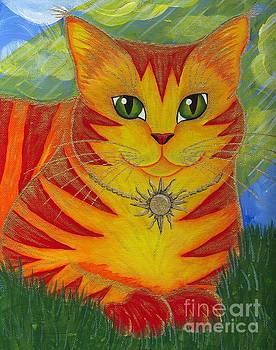 Rajah Golden Sun Cat by Carrie Hawks