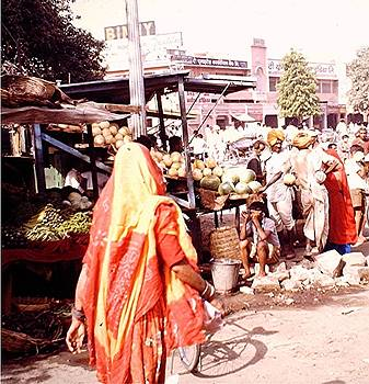 Rajasthani tiedye cunari, India by Barron Holland