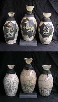 Raku Dragons by John Gruber
