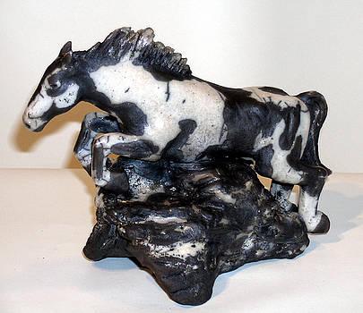 Raku Horse Leaping by John Gruber