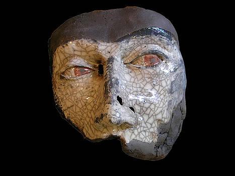 Raku Mask by John Gruber