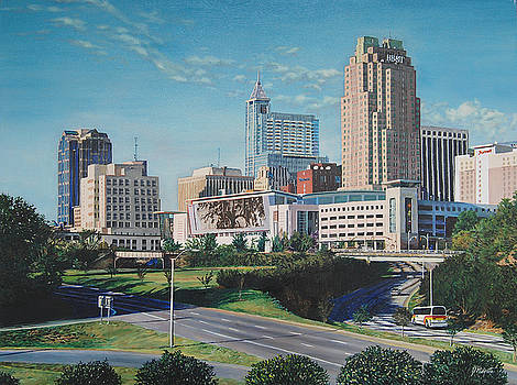 Raleigh downtown realistic by Tommy Midyette